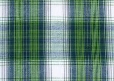 Madras Plaid, Cotton Fabric. 2½ Yards. Green, Navy, White. Woven Tartan