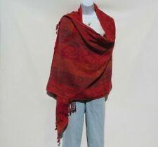 Yennuo Winter Balinese Yarn Scarves for Women Warm Soft Classic Retro Floral Print Turban Females Long Wrap Shawl