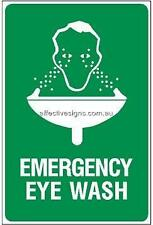 Emergency Eye Wash Sign Safety Signs Australian Made Quality Printed Sign