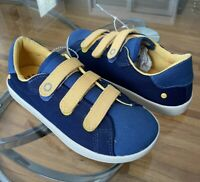 Ugg Shoes Sneakers Canvas Youth Boys Size 3 Hook and Loop BLUE NWOB 1092719K
