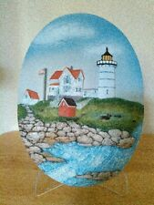 Lighthouse wall plaque or with stand, Nubble Cape Neddick Me by Popular Imports