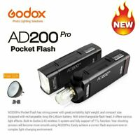 Godox AD200Pro TTL 2.4G HSS 200Ws Pocket Portable Flash Light + AD-S2 Reflector