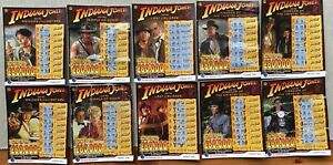 INDIANA JONES - Complete Set of 10x (Used) National Lottery Scratchcards - 2008