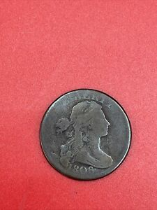 1806 Draped Bust Early US Copper Large US Cent D60