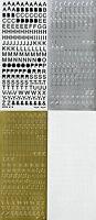 8mm Uppercase ALPHABET Type 1 Symbol Letters Capital Alphabets PEEL OFF STICKERS