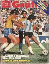 DIEGO MARADONA Argentina Vs Brazil MUNDIALITO Magazine 1980