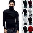 US Stock Men Slim Warm Cotton High Neck Pullover Jumper Sweater Top Turtleneck