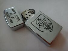 Vietnam War Yr 1965 Zippo Slim Lighter Nha Trang 65-66, Arvn Special Forces Lldb