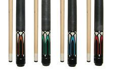 "Lot of 4 Hardwood Maple 58 "" 2 Piece Pool Cue Billiard Table Stick 1@ 18 - 21 OZ"