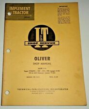 Oliver 99gmtc 950 990 995 770 880 Tractor Iampt Supplement Shop Service Manual
