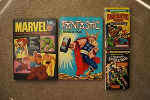 Old Marvel UK 1960s annuals + 1970s pocket books – Spider-man and Fantastic Four