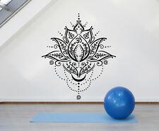 Vinyl Wall Decal Meditation Yoga Spa Center Lotus Flower Symbol Stickers (g1248)