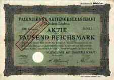 Valencienne puntas fábrica 1000 RM Dresden Leuben 1929 títulos históricos