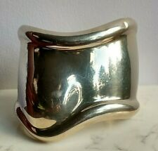 Elsa Peretti for Tiffany Sterling Silver Bone Cuff, Medium, Right wrist.