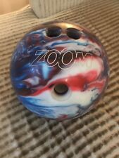 Ebonite Zoom Glow Bowling Ball 4.65kg (10lb 4oz) Red, Blue & White.