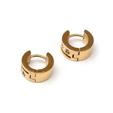 Rhinestone Stainless Steel Earrings & Studs for Men