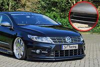 Spoilerschwert Frontspoiler aus ABS VW Passat CC R-Line mit ABE schwarz glänzend