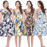 Bp Women's 50s/60s Vintage Floral Housewife Swing Pinup Evening Party Dress Hot!