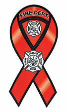 Magnetic Bumper Sticker - Fire Department (Rescue, Firefighter) - Ribbon Magnet