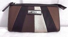 Relic By Fossil  Burnished Copper Pewter Brown Black Cell Phone Wallet Clutch