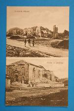 Meurthe et Moselle 54 Lorrain CP CPA Leintrey 1918 Guerre Maisons detruit milita