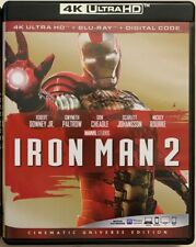 DISNEY MARVEL IRON MAN 2 4K ULTRA HD BLU RAY 2 DISC SET FREE WORLD WIDE SHIPPING