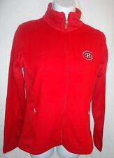 New $60 Montreal Canadiens NHL Womens  Sleet Full-zip Fleece Red Jacket Sz. S