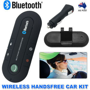Bluetooth Universal Handsfree Car Kit Wireless Speakerphone Mic For Mobile Phone