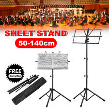 Adjustable Note Sheet Music Stand Portable Folding Tripod Holder Mount Carry Bag