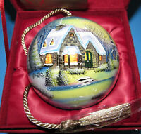Inner Beauty Mouth Blown Glass Handpainted Sweet Home Christmas Ornament NEW