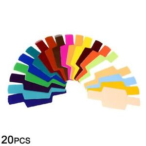 20 Pcs Set Flash Color Gels Filters kit For Canon Nikon Godox Yongnuo B1Y5 Sale