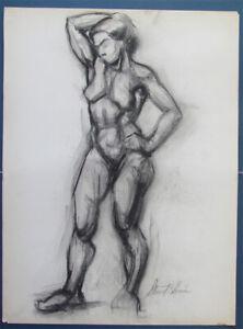 1940's Nude Female STEWART KLONIS Modernist Students League N.Y.  Male