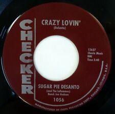 SUGAR PIE DeSANTO 45 Crazy Lovin'/Love Me Tonight CHECKER soul VG++ lc609