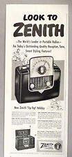 "Zenith ""Tip-Top"" Portable Radio PRINT AD - 1951"