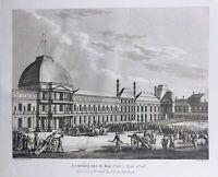 Paris pendant la Révolution Française 1793 Rare Gravure d'époque Revolutionnaire