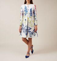 BNWT womens Gorgeous HOBBS COAT CAROLINE IVORY size uk 8 RRP £299.