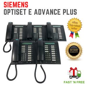 LOT OF 5 Siemens Optiset E Advance Plus Display Business Telephone