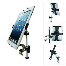 Music Microphone Mic Mount Holder Stand 360° For iPad i Pad 2 3 4 Mini Tablet