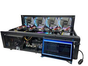 Mining Rig Kit Ethereum, Monero (Open Air Case 6 GPU, PSU, CPU ) NO GPUs