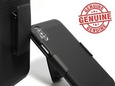 """For iPhone Xs 5.8""""  Black Slim PC Hard Shell Case with Belt Clip Holster"""