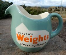 Classic vintage 1960's Player's Weights cigarettes advertising pub jug. TG Green