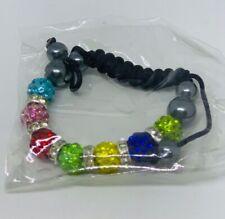 Women Round Gemstone Beads Handmade Bracelets Charm Jewelry Multi-color