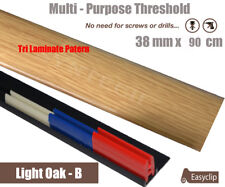 Light Oak Tri Laminate Threshold 38mmx90cm Multi-Height & Pivot All Floor Types
