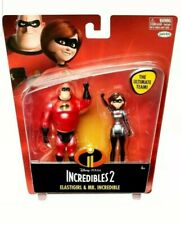 The Incredibles 2 Ultimate Team Features 4 Inch Mr. Incredible Elastigirl NEW