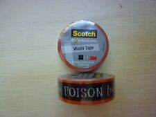 Lot of 2 Scotch Expressions washi tape Halloween, poison trick or treat venom