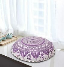 "32"" Yoga Floor Pillow Cover Ottomans bohemian mandala Round Pouf cover Throw"