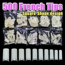 500 pcs professionnels Français faux ongles pour acrylique nail tips Square)