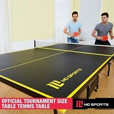 Official Size Indoor Tennis Ping Pong Table 2 Paddles Balls Foldable & Casters