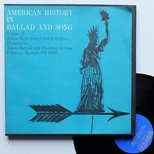 "LP Various  ""American history in ballad and song volume 2"" - TRES RARE"