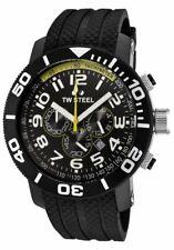 TW Steel TW75 Men's Grandeur Diver Chronograph 48mm All Black PVD Rubber Watch